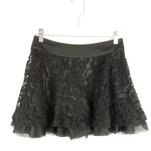 GUESS Floral Lace Tutu Mini Skirt